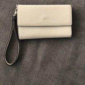 Kate Spade Saffiano wristlet phone case wallet
